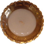 Limoges, France Gold trim bowl