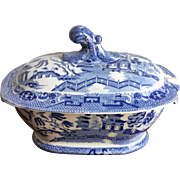 Blue Willow Transferware Sauce Tureen