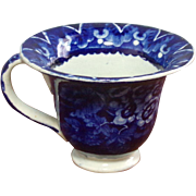 Staffordshire Dark Blue Custard Cup