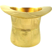 Brass Top Hat Shaped Cooler or Ice Bucket Barware