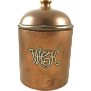 Heintz Art Metal Bronze & Sterling Silver Humidor  Arts & Crafts