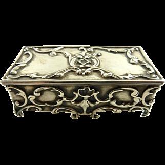 Antique Gorham Sterling Silver & Gilt Stamp Box