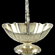 Antique English Sterling Silver Sugar Basket Walker & Hall 1903