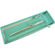 Tiffany & Co Sterling Silver Ball Point Pen with Golf Club Clip Original Box