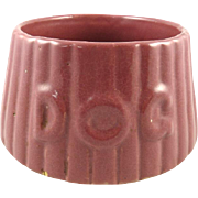 English Pottery Dog Bowl with Raised Letters