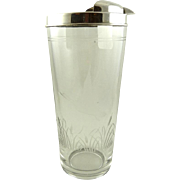 Hawkes Crystal and Sterling Silver Cocktail Pitcher Barware