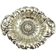 Art Nouveau Sterling Silver Floral Nut Dish by Reed & Barton Poppy