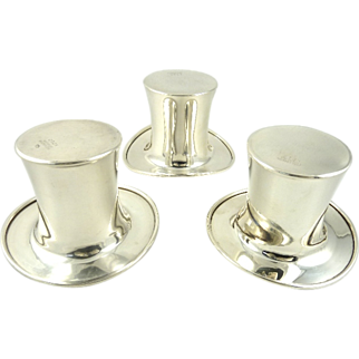Reed & Barton Sterling Silver Top Hats
