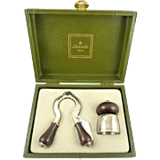Christofle Champagne Pull and Stopper in Presentation Case