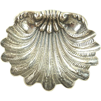 Italian Silver Hand Hammered Shell Bowl by Mazzucco