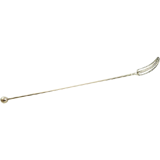 Sterling Silver Cocktail Stirrer Feather Shaped