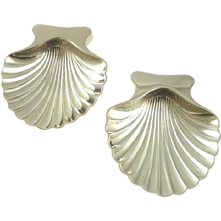 Tiffany & Co Sterling Silver Nut Dishes Shell Shaped