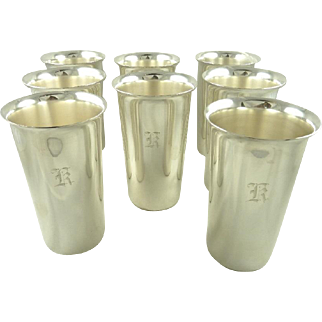 Sterling Silver Tumblers Set of Eight by S. Kirk & Son