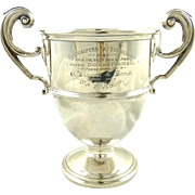 English Sterling Silver Trophy Cup London 1928