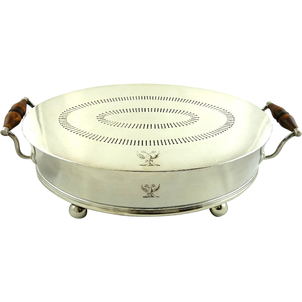 Antique Old Sheffield Plate Food Warmer From Yorkcottage