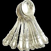 Gorham Sterling Silver Set of Twelve Soup Spoons Old Baronial Pattern
