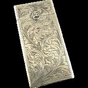 Engraved Silver Case Italian .800