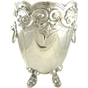 Sterling Silver Portuguese Champagne Cooler or Ice Bucket