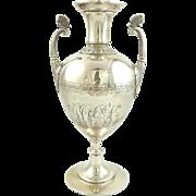 Antique Gorham Sterling Silver Vase Aesthetic Movement Butterflies