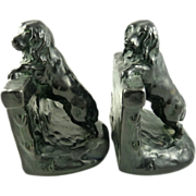 Antique Dog Bookends Modeled as Spaniels