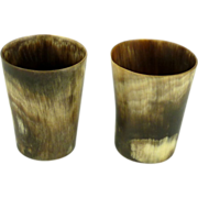 Antique Horn Shot Glasses Cups