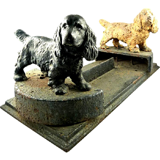 Antique Hubley Boot Scraper with Spaniels