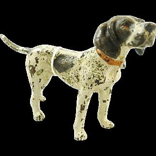 Antique Cold Painted Bronze Dog Pointer Bird Dog
