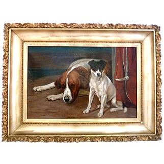 F. Bray Jack Russell Framed Painting Fox Hunt Sporting Life