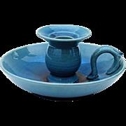 Vintage Japanese Awaji Pottery  Candle Holder Chamberstick