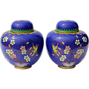 Pair Of Early Vintage Chinese Ginger Jars, Circa 1940