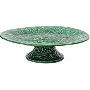 19th Century English Majolica Pedistal Cake Stand, Circa 1880