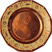 Early 19th Century English Copper Luster Plate, Circa 1840