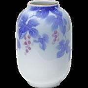 Vintage Signed Japanese Fukagawa Porcelain Vase