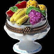 Vintage French Limoges Fruit Bowl Trinket Box