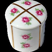 Vintage Signed French Limoges Porcelain Rose Vanity Box