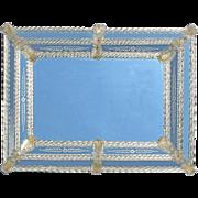 Large Vintage Venetian Glass Mirror