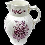 Vintage Signed Royal Worcester Bone China Floral Pitcher