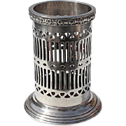 Antique Philadelphia Benjamin Franklin Hotel Silver Pencil & Pen Holder, Circa 1900