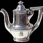 Antique Philadelphia Hotel Walton Silver Teapot, Circa 1890