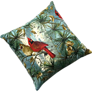 Vintage Camp And Cottage Style Pine Needle Pillow