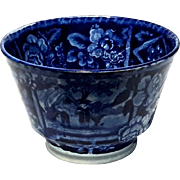 19th Century Flow Blue Handleless Cup