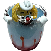 Vintage Murano Glass Clown Bowl, Circa 1960