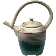 Vintage Hand-Made Art Pottery Teapot By Boris Vitlin