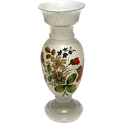 Victorian Hand-Blown Bristol Glass Vase