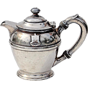 Early Vintage Claridge Hotel Silver Teapot Atlantic City, Circa 1930