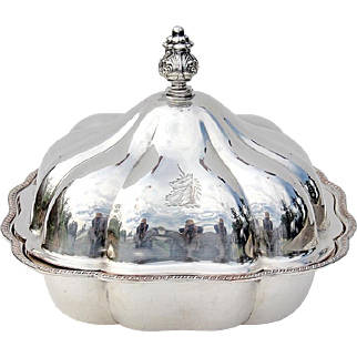 Silver Plated Covered Tureen By Oxford Silversmiths New York, Circa 1920