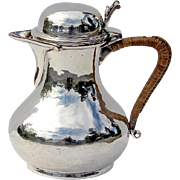 Arts And Crafts Silver Plated Pitcher By Duchess Of Sutherland Cripples Guild, Circa 1915