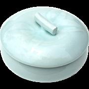 Signed Vintage Japanese Arita Celadon Porcelain Covered Bowl