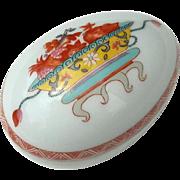 Vintage Signed Bernardaud Limoges Porcelain Egg Box