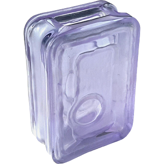 Partially Frosted Violet Crystal Modern Vase